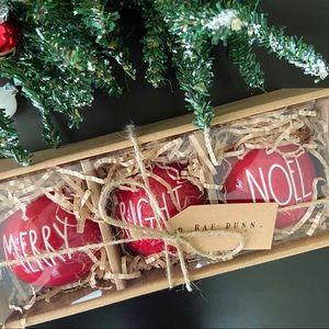 Rae Dunn 'MERRY BRIGHT NOEL' Christmas Ornaments